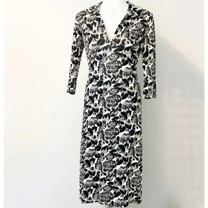 BANANA REPUBLIC Silk Floral V Neck Dress XS